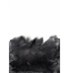 abstract black brush stroke watercolor background vector image