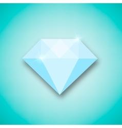 Abstract creative concept icon of diamond vector image