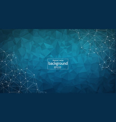 abstract dark blue polygonal space background vector image