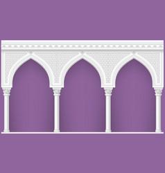 arcade in oriental style vector image