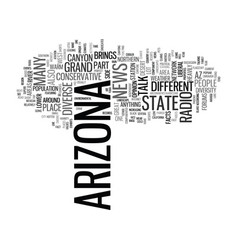 Arizona text background word cloud concept vector
