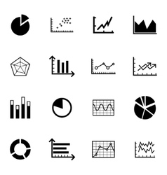 black diagram icons set vector image