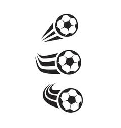 black Soccer vector image