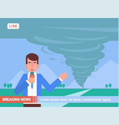 Breaking news flat vector