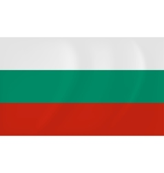 Bulgaria waving flag vector image