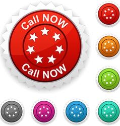 Call Now award vector image