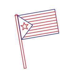 Catalonia flag post nationalism symbol vector