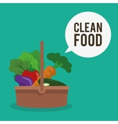 Clean food design vector image