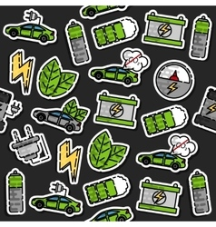 Colored electric car pattern vector