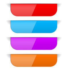 colored sticker labels with transparent shadow vector image