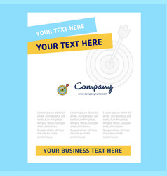 dart game title page design for company profile vector image