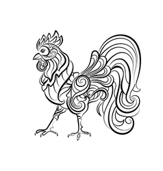 Decorative cock vector image