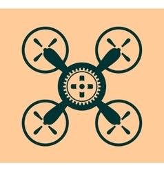 Drone quadrocopter icon Cog wheel symbol vector
