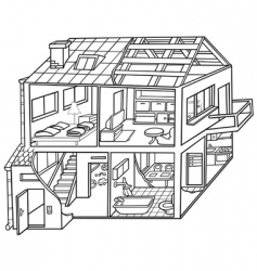 Dwelling house vector