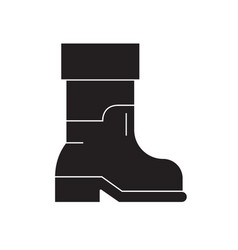 farmer boots black concept icon farmer vector image