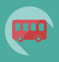 Flat modern design with shadow icon bus vector