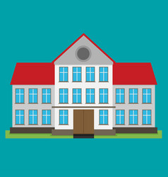 Flat of school building for back to school vector