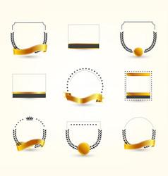 Frames for logo vector
