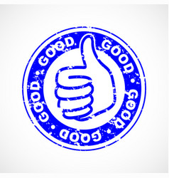 good thumbs up stamp vector image
