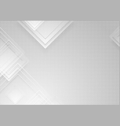 grey squares and dots abstract geometric vector image