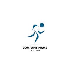 human running logo character vector image