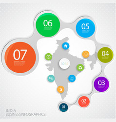 India Map and Elements Infographic vector