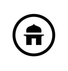 Islamic mosque logo logo or icon design vector