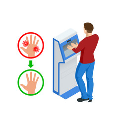 isometric automatic alcohol hand sanitizer vector image