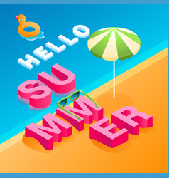 isometric summer concept 03 vector image