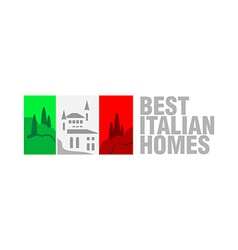 Italian real estate flag logo template Flag vector image