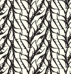 Kelp seaweed black abstract rough white vector