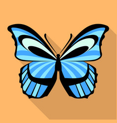 Light blue butterfly icon flat style vector