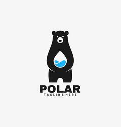 logo polar negative space style vector image