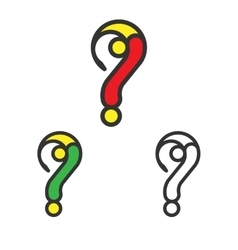 Logo template set question mark logotype vector