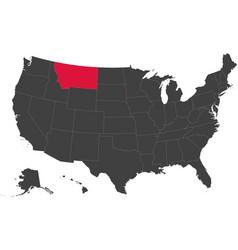 map of usa - montana vector image