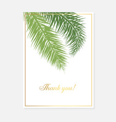 minimalist botanical wedding invitation card vector image