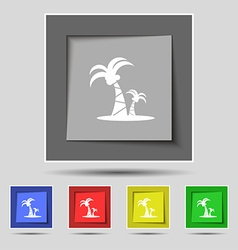 Paml icon sign on original five colored buttons vector