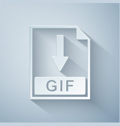 Paper cut gif file document icon download gif vector