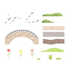 park architectural landscape constructor design vector image