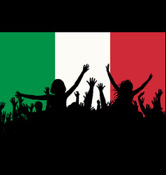 people silhouettes celebrating italy national day vector image