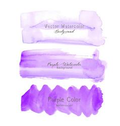 purple brush stroke watercolor vector image