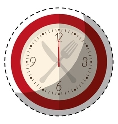 Red wall clock icon image vector