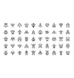 Robot technology character artificial machine vector