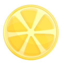 round slice lemon icon cartoon style vector image