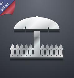 Sandbox icon symbol 3D style Trendy modern design vector