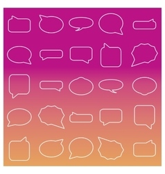 Set of linear frames vector image