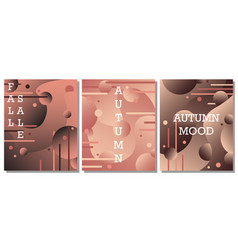 set of modern artistic backgrounds vector image