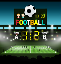 soccer match on footbal stadium - chanpionship vector image