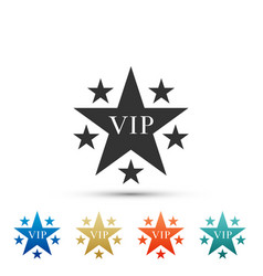 Star vip with circle of stars icon isolated vector