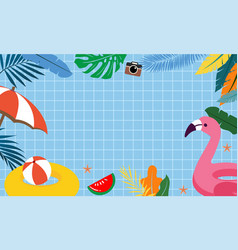 summer pool party background design vector image